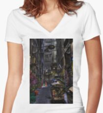 Degraves St 07 Women's Fitted V-Neck T-Shirt