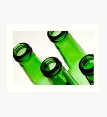 Beer bottles Art Print