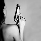 Woman with a gun by ulryka