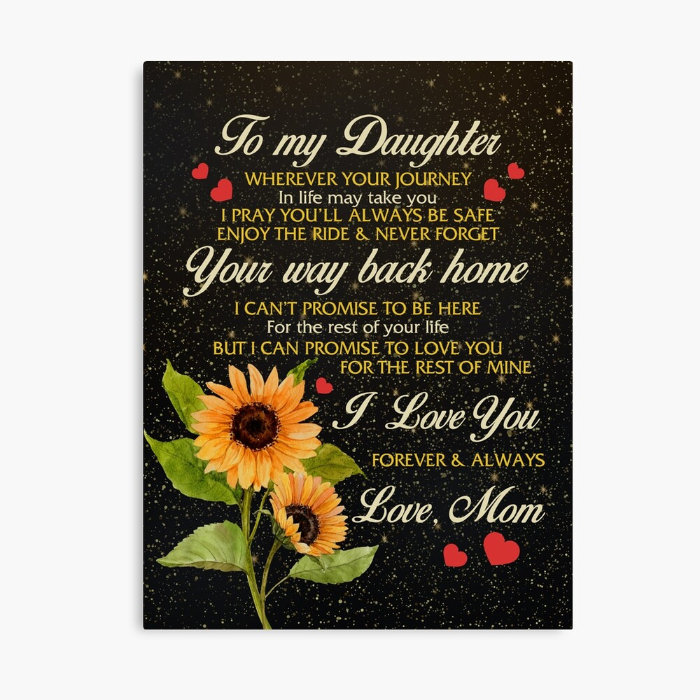 Poster no Framed Black Girl My Dear Daughter Whenever Canvas With Framed