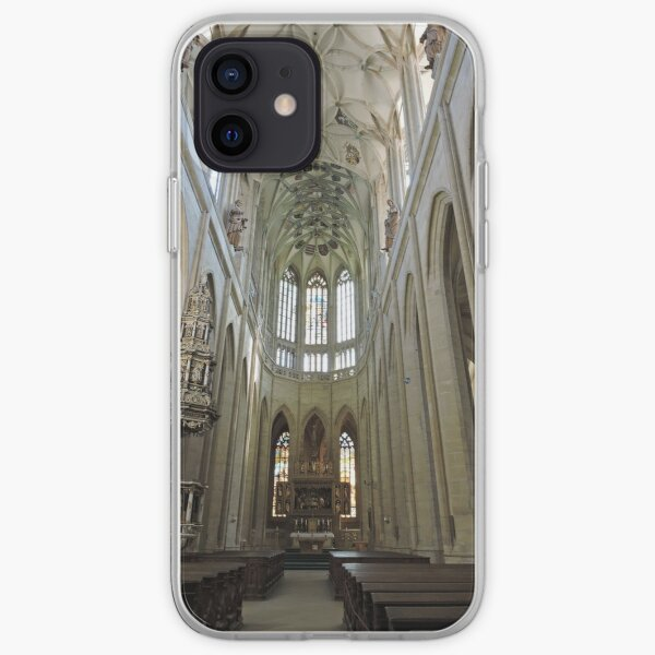 St Barbara's cathedral, Kutna Hora, aisle iPhone Soft Case