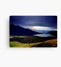 35mm negative of The Remarkables mountains Canvas Print