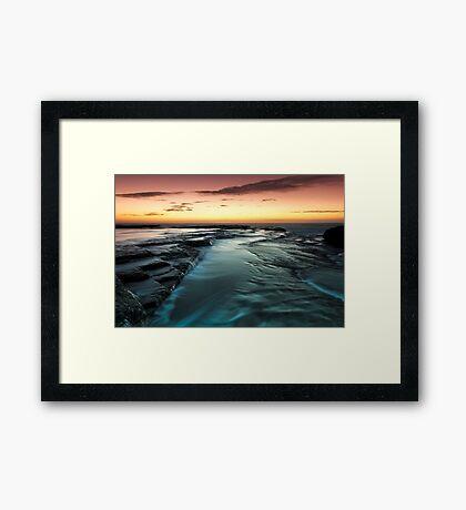 Flowing Down Framed Print