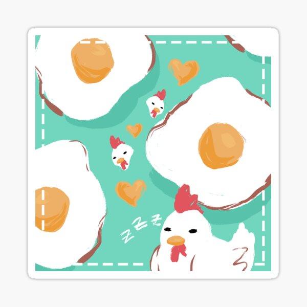 Chicken Dreaming Glossy Sticker