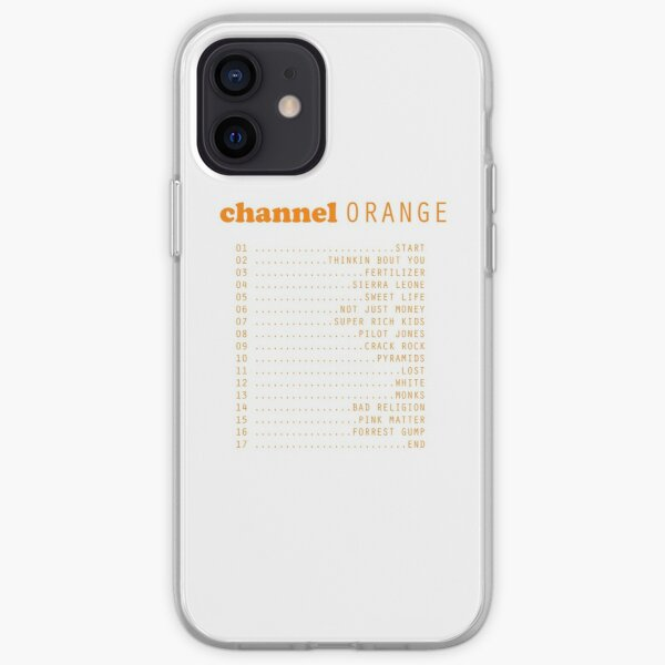 Channel Orange Songs iPhone Soft Case
