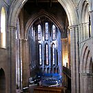 Hexham Abbey view of the North Transept by John Dalkin