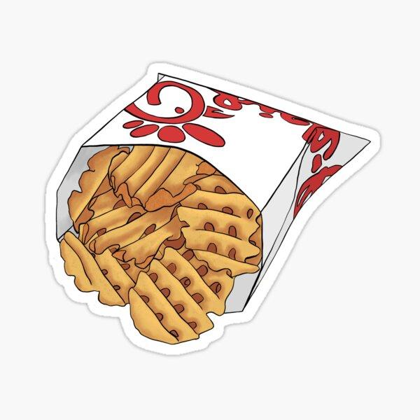 Waffle Fries Sticker