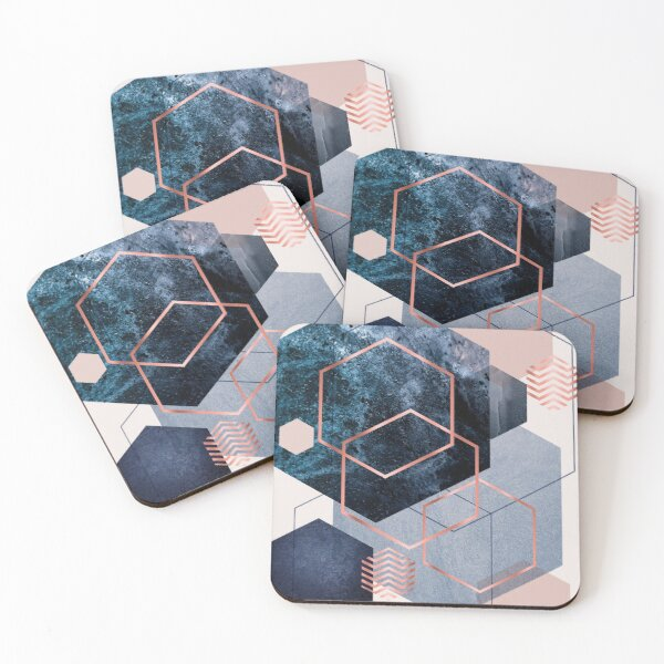 Abstract Geo Coasters (Set of 4)