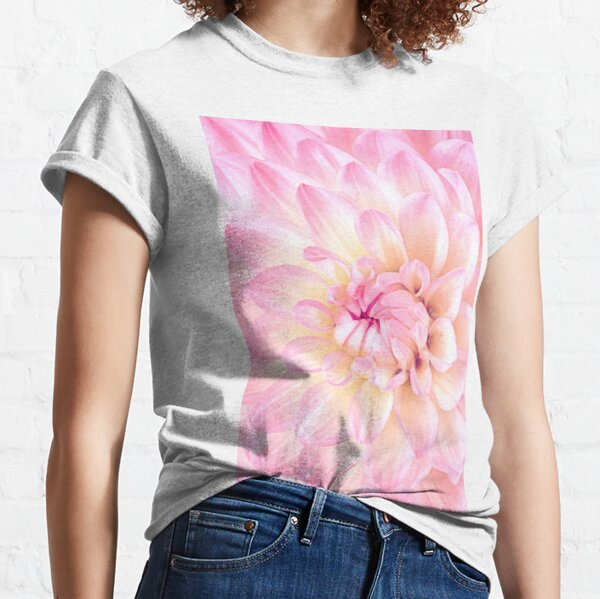 Pink Dahlia Flower Art Classic T-Shirt