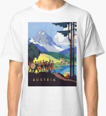 Austria Vintage Travel Advertisement Classic T-Shirt