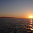 Sierra Madre with Sunset - Puesta del Sol con la Sierra Madre by PtoVallartaMex