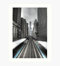 Trumped Tracks. Art Print