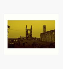 Cathedral in St. Andrews Art Print