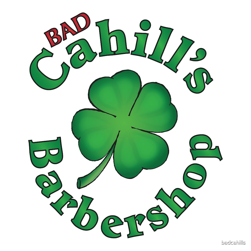 Bad Cahill's Bardershop Logo by badcahills