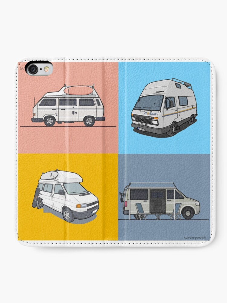 Alternate view of Our Campervans - rocking the streets since 1988 iPhone Wallet