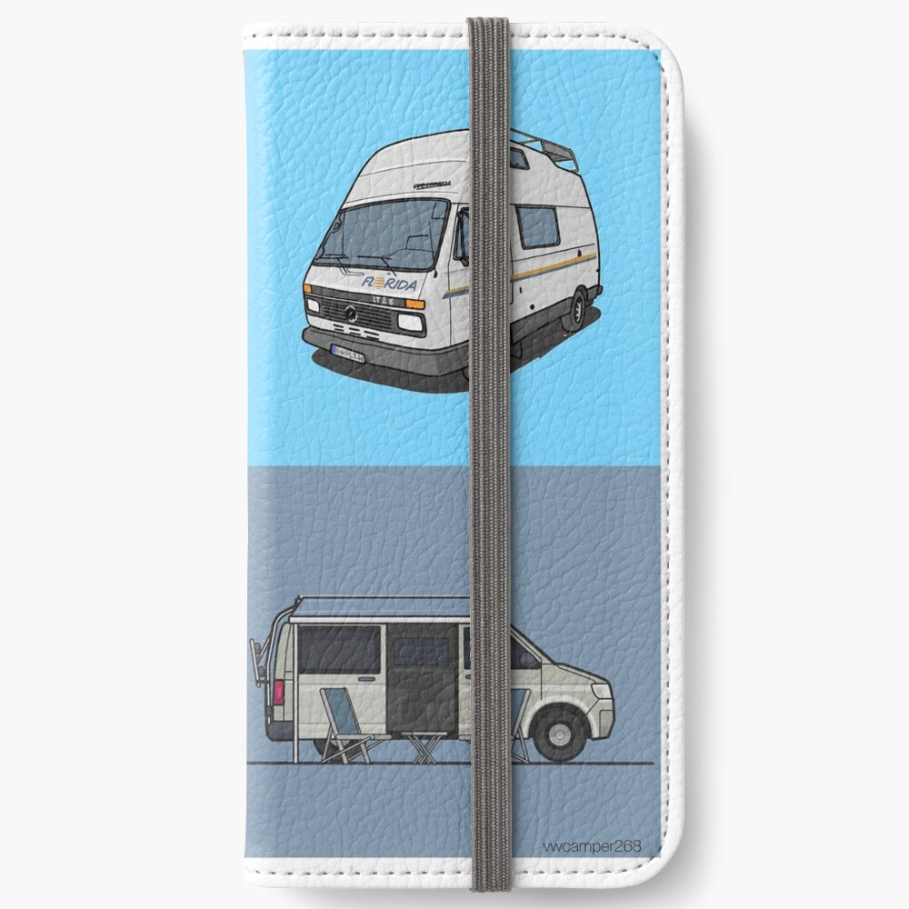 Our Campervans - rocking the streets since 1988 iPhone Wallet