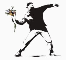 Throwing Flowers - Banksy