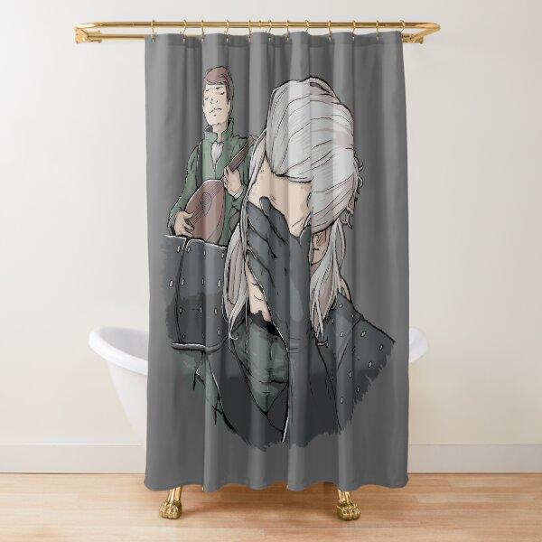 Geralt Face Palm Shower Curtain