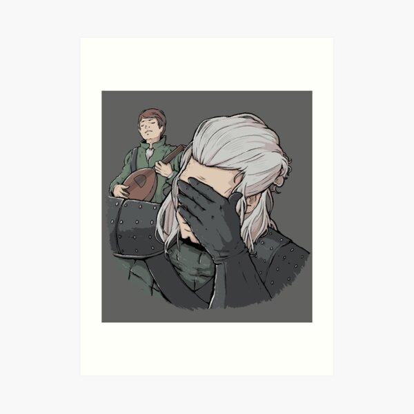 Geralt Face Palm Art Print