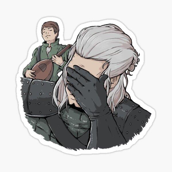Geralt Gesichtspalme Sticker