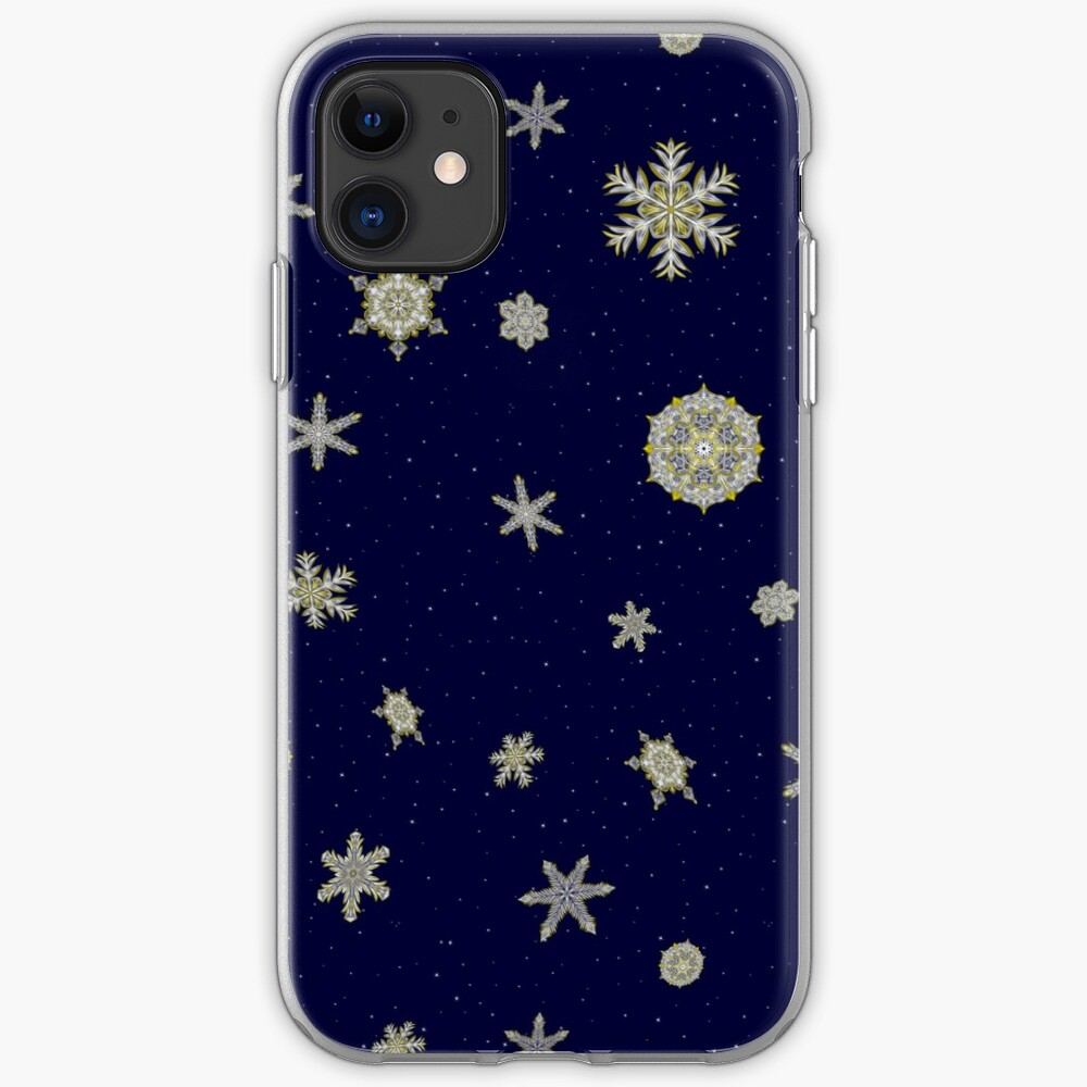 Gilded Space Snowflake iPhone Case & Cover