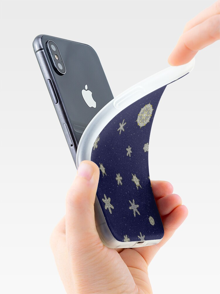 Alternate view of Gilded Space Snowflake iPhone Case & Cover