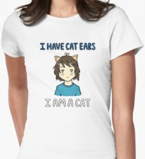I am a Cat Women's Fitted T-Shirt