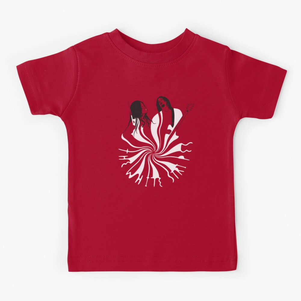 Candy Cane Children (on red) Kids T-Shirt