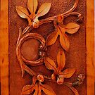carved wood leaves iphone by jashumbert