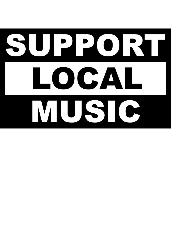 """Support Local Music"" Stickers by marissaleighxo 