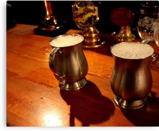 Pints in Pewter Ale Tankards  by rsangsterkelly