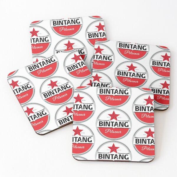 Bintang Pilsener Beer Logo Coasters (Set of 4)