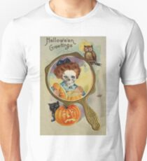 Lighting The Jack O' Lantern (Vintage Halloween Card) Unisex T-Shirt