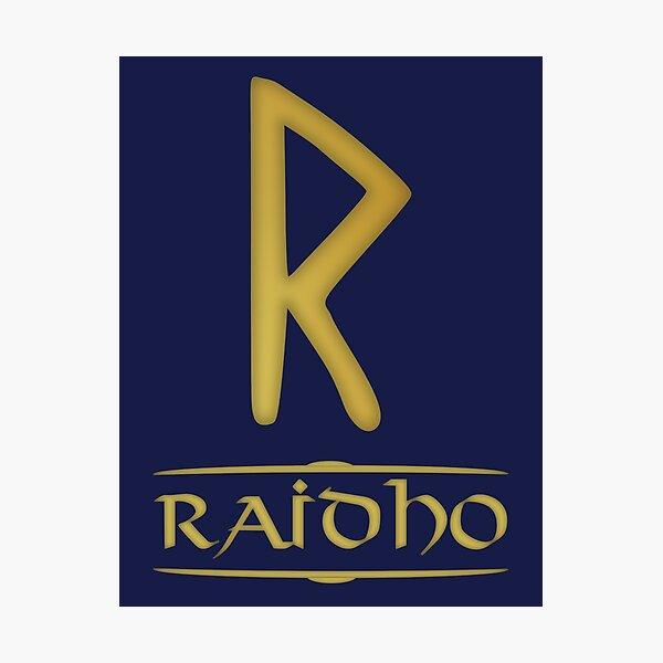 Raidho - Rune / Älteres Futhark / Serie aus 24 Runen Fotodruck