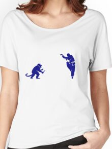 Monkey Kung Fu with Knife Women's Relaxed Fit T-Shirt