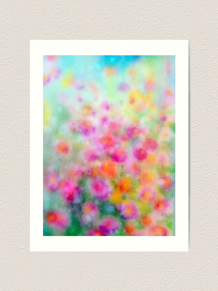 Alternate view of Flowers vibrant (Meadow Collection) watercolour by Penny Bonser Art Print