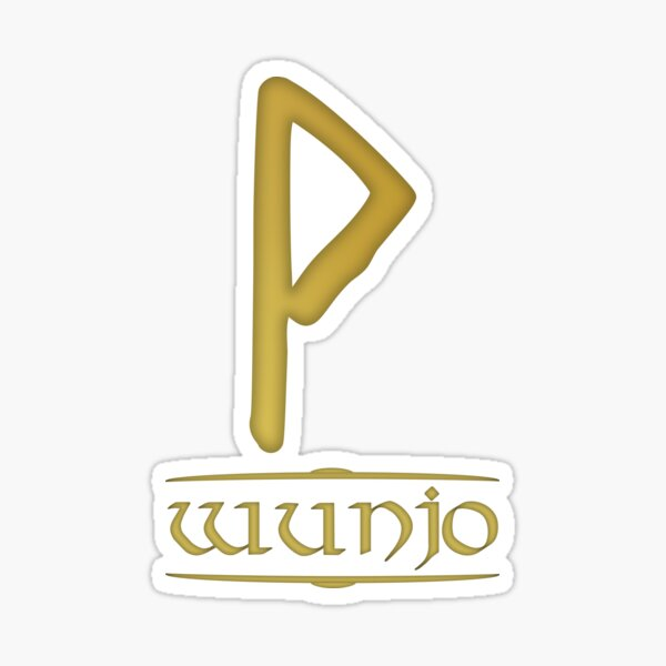Wunjo- Rune / Älteres Futhark / Serie aus 24 Runen Sticker