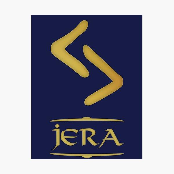 Jera - Rune / Älteres Futhark / Serie aus 24 Runen Fotodruck