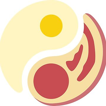 Bacon & Egg, Yin & Yang by supercujo