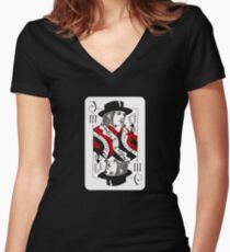 Jack of Threes Women's Fitted V-Neck T-Shirt