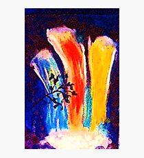 Rainbow, waterfalls, watercolor Photographic Print