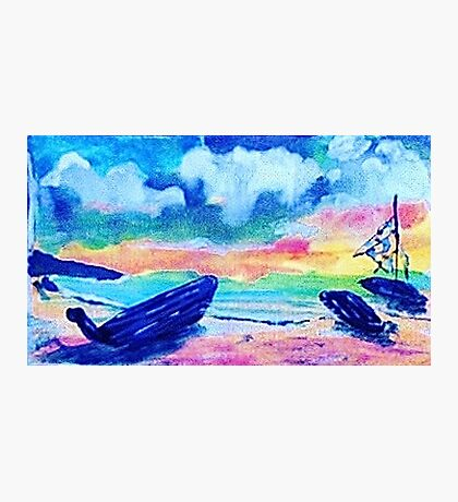 Next day after the storm, watercolor Photographic Print