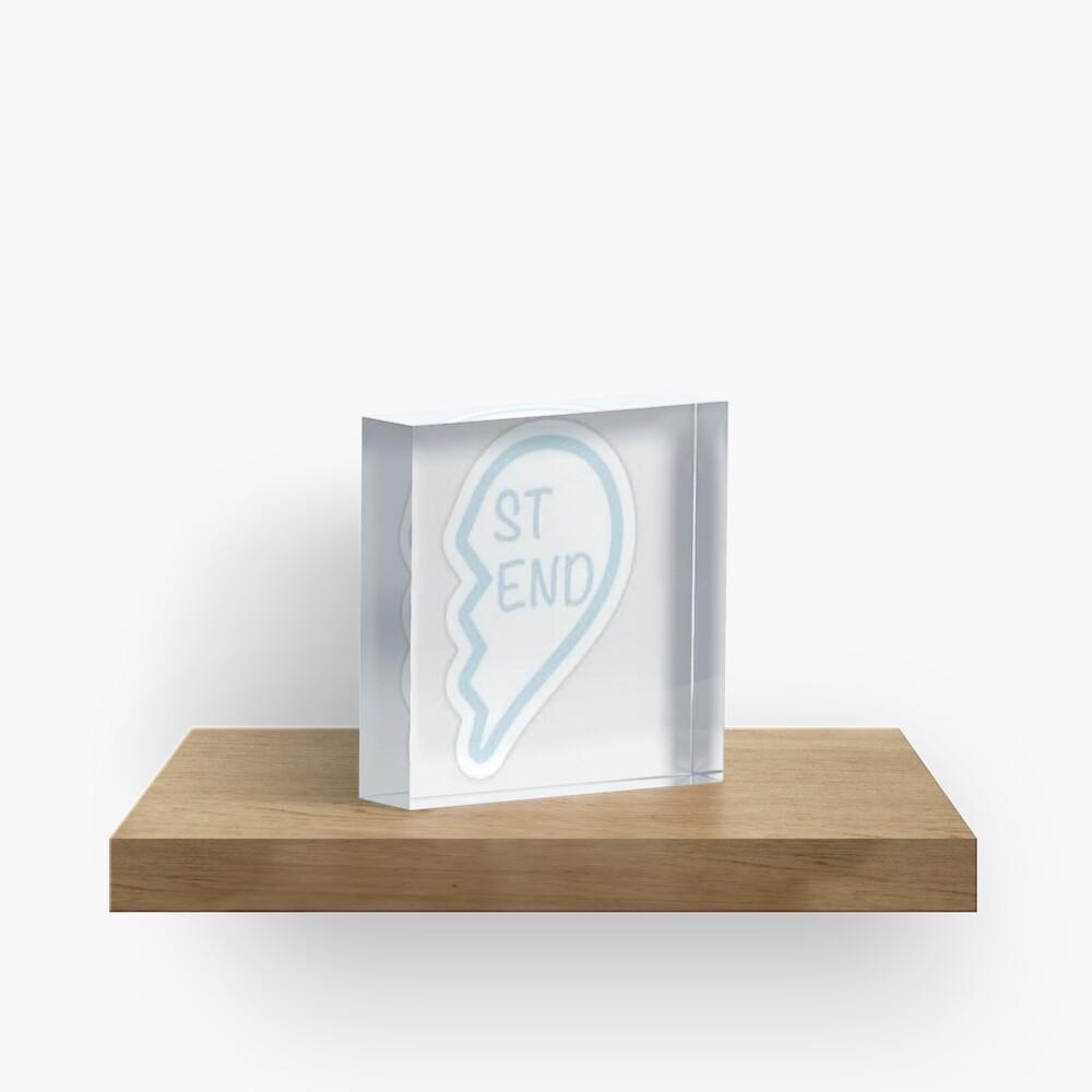 Best friend heart 2 Acrylic Block