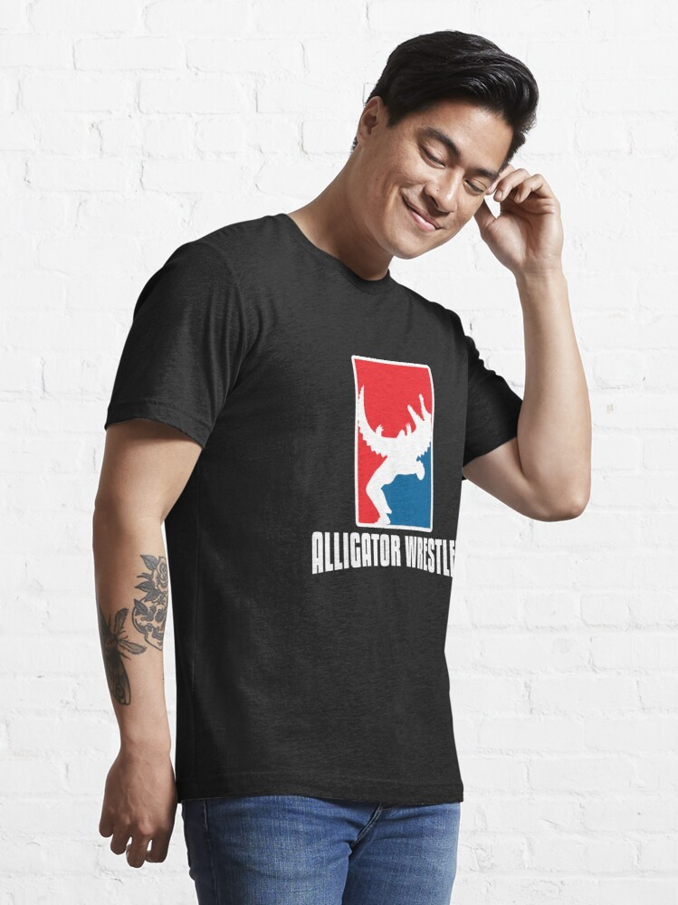 Alternate view of Alligator Wrestler - Reptile Party Alligator Essential T-Shirt
