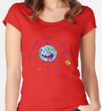 The Earth Laughs in Flowers Women's Fitted Scoop T-Shirt