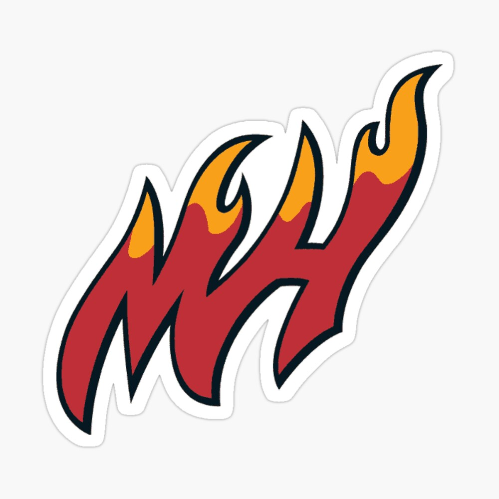 Mh Miami Heat Logo Pin By Bigblackberman Redbubble