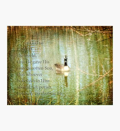 God so loved Photographic Print