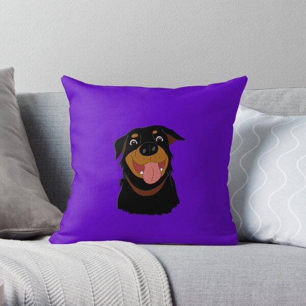 Roxie The Rottweiler Throw Pillow