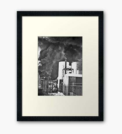 Fire at Wingfield Framed Print