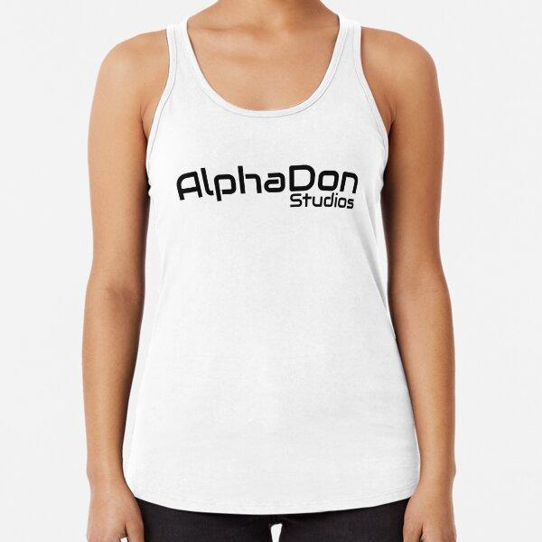 AlphaDon Studios Company Logo  Racerback Tank Top